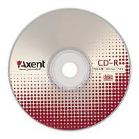 """Диск CD-R Axent """"Bulk (50)"""", 700MB/80min, скорость записи 52X"""