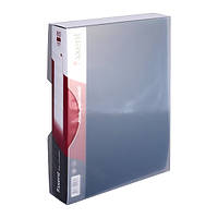 Дисплей-книга Axent, 100 файлов, в пластиковом боксе, синяя