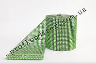 Декоративная лента для декора Травяной цвет, ширина 6см