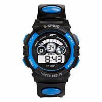 Спортивные часы черно-синего цвета NT-88F