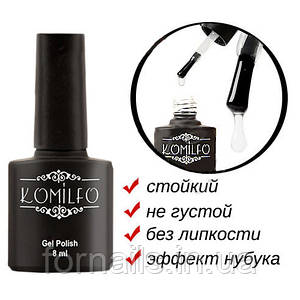 Матовый закрепитель для гель-лака Komilfo без ЛС, 8 мл