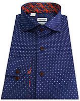 Рубашка классическая в горошек  №S 55.7 RC