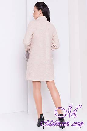 Женское элегантное осеннее пальто (р. S, M, L) арт. Этель 16903, фото 2