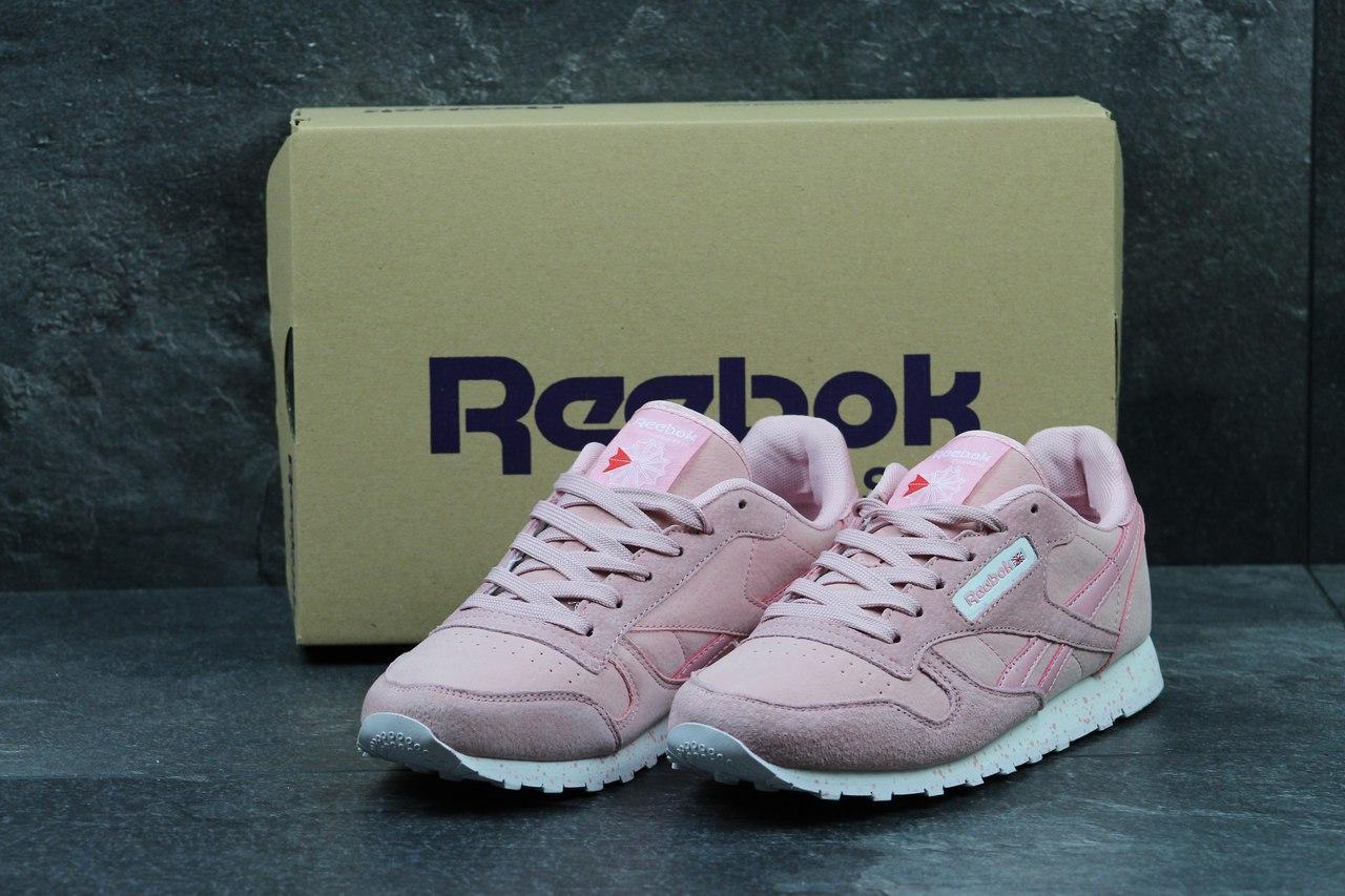 Жіночі шкіряні кросівки Reebok Classic -рожеві f8875cb6c2b27