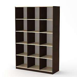 Книжный шкаф открытый КШ-3 Компанит 1300х1950х448 мм
