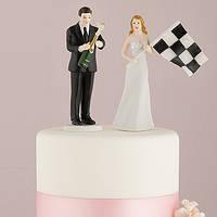 """Фигурки на свадебный торт """"Мы любим автогонки"""""""