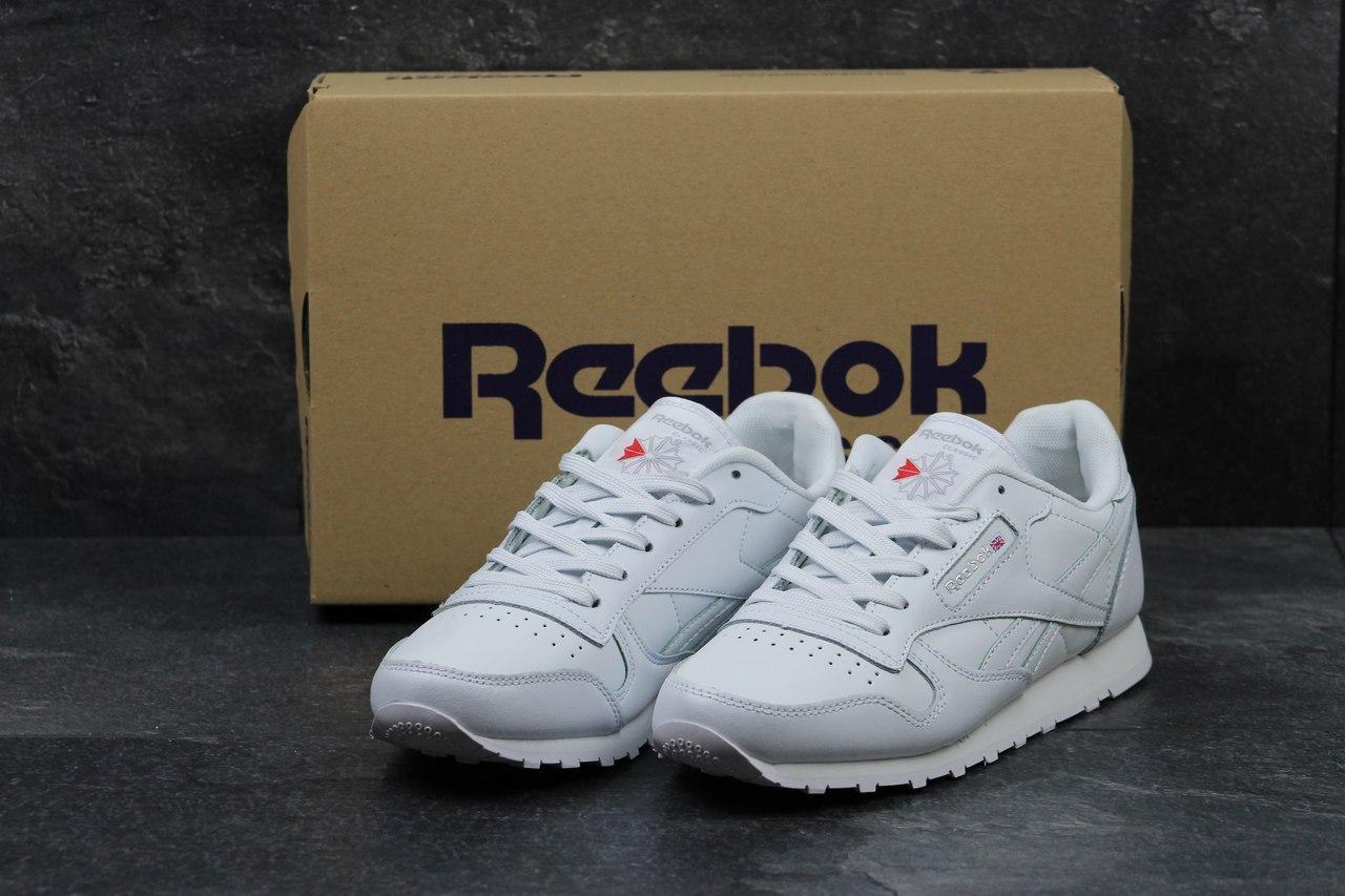 Жіночі шкіряні кросівки Reebok Classic -білі b749697950442