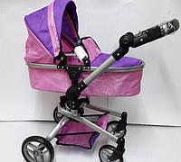 Коляска для кукол MELOGO 9695. Зимняя. Фиолетово-розовая