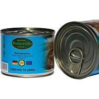 Влажный корм для котов Baskerville Индейка и рыба 200 г