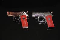 Зажигалка в виде пистолета с лазером