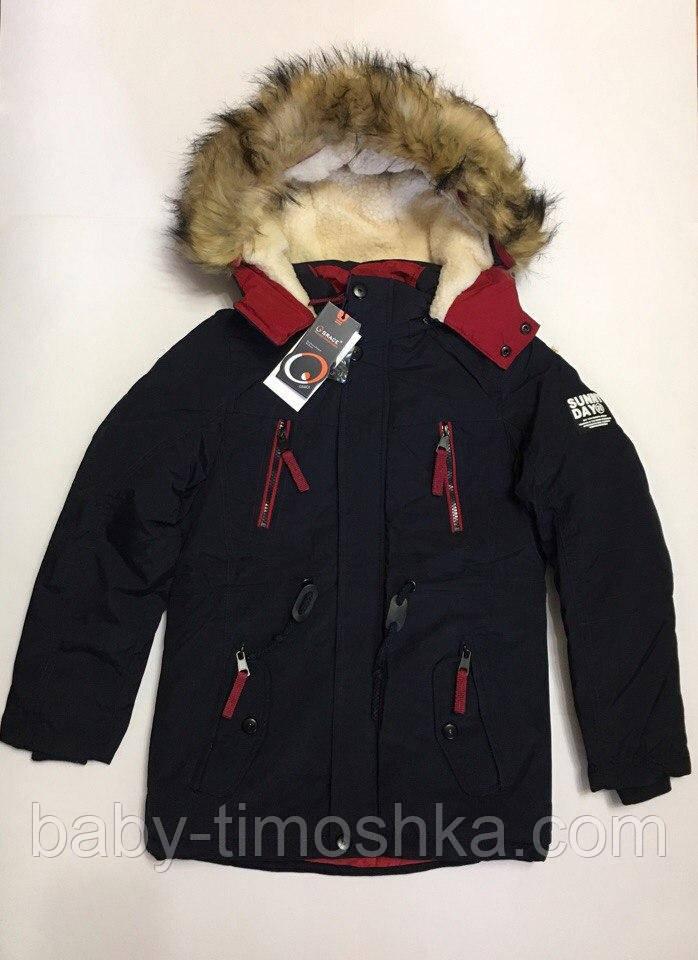 Зимняя куртка парка для мальчиков 10-14 лет