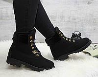 Ботинки на шнурках черные