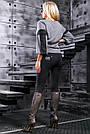Женские чёрные леггинсы, размер 44 до 50, турецкий трикотаж, фото 5