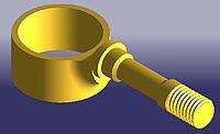 Стойка стабилизатора передняя левая / правая не в сборе CHERY AMULET A11 [1.6-2010г.] [до 2012г.1.5] Китай оригинал A11-2906021