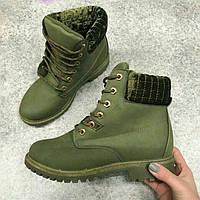 Ботинки на шнурках хаки
