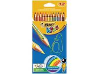 Карандаши цветные BIC Тропиколор, 12 цветов