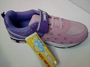 Кросівки дівч шкір.зам Jump Blooms 2881 G, фіолетово-рожеві 34