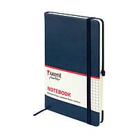 Книга записная Axent Partner Lux, А5-, обложка из термо-PU, 96 листов, клетка, синяя (8202-02-A), фото 1