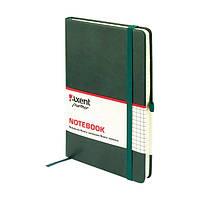 Книга записная Axent Partner Lux, А5-, обложка из термо-PU, 96 листов, клетка, зеленая (8202-04-A)