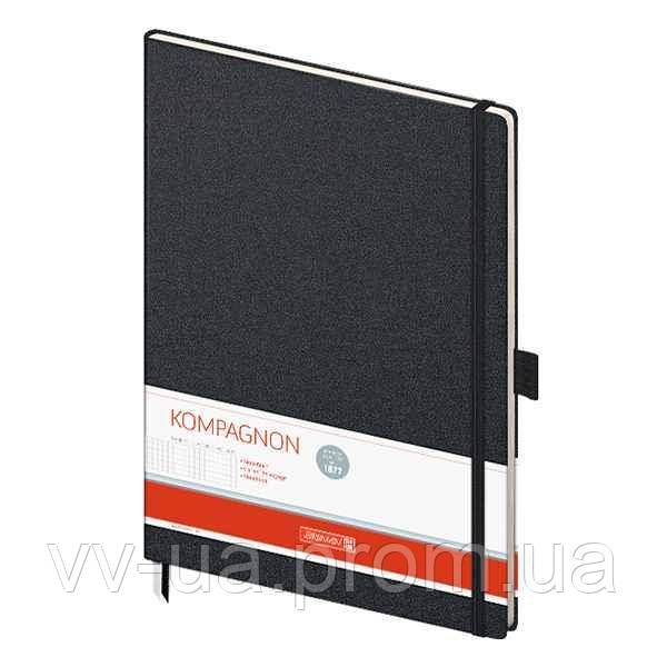 Книга записная Brunnen Компаньон черная А4, клетка