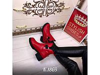 Женские ботинки демисезонные кожаные Oleksy Stael 1721 Red