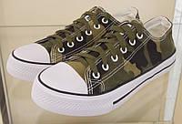 КЕДЫ AIL STAR цвет:Хаки, подошва 2,5См, материал-обувной текстиль