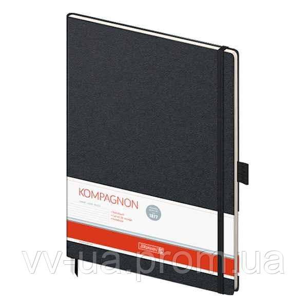 Книга записная Brunnen Компаньон черная А4, линия
