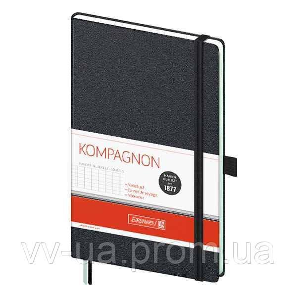 Книга записная Brunnen Компаньон черная А5, клетка