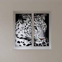 Рулонные фотошторы леопард