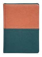 Ежедневник датированный Buromax 2019 Quattro А6 темно-зеленый/светло-коричневый BM.2519-86
