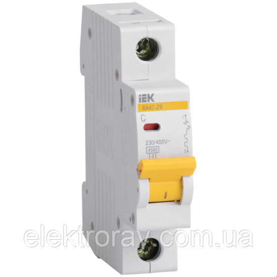 Автоматический выключатель BA47-29 1P 50А 4,5кА х-ка С IEK