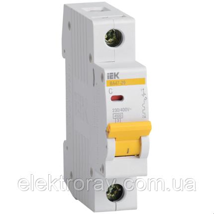 Автоматический выключатель BA47-29 1P 63А 4,5кА х-ка С IEK, фото 2