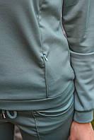 Трикотажний спортивний костюм -оливка XL