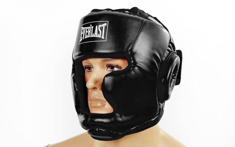 Шлем боксерский с полной защитой PU ELAST BO-3954-BK (черный, р-р S-L) - Интернет-магазин Sport2012 в Днепре