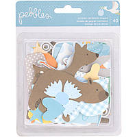 Висічки від Pebbles Lullaby Ephemera Cardstock Die-Cuts 40Pkg boy