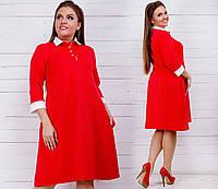 Платье (42-44,46-48, 50-52, 54-56, 58-60) —  трикотаж купить оптом и в розницу в одессе  7км