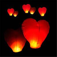 """Китайские небесные фонарики """"Сердце""""! Летающие свечи!"""