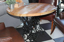 Стол деревянный круглый