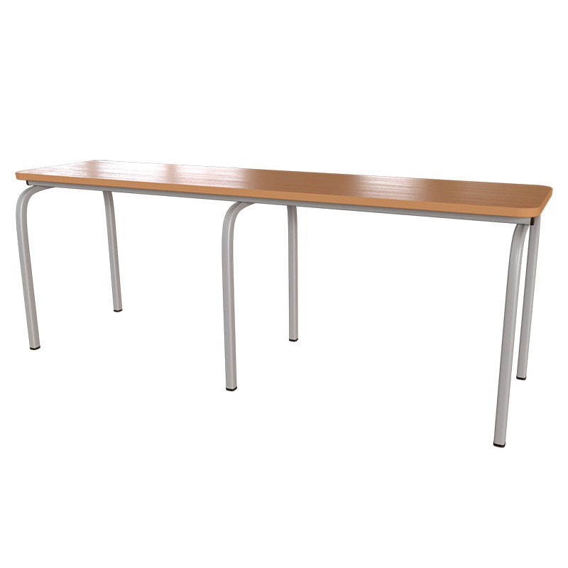 Лавка для школьной столовой и раздевалок с сидением из ДСП от производителя