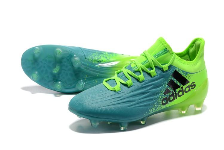 Бутсы Adidas X 16.1 FG зеленые/бирюзовые