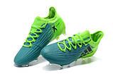 Бутсы Adidas X 16.1 FG зеленые/бирюзовые, фото 3