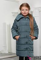 Зимняя куртка-пальто для девочки, DT-8255, разные цвета