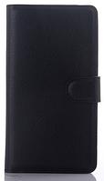 Кожаный чехол-книжка для Sony Xperia C4 черный