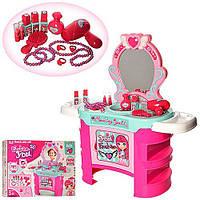 Ролевые игровые наборы для девочек Трюмо / туалетный столик 008-909 - в собр.виде 67*66*26.5см, с аксесс. (бус