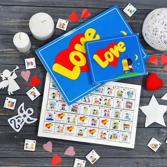 Шоколадний подарунковий набір Love Is... 30шт