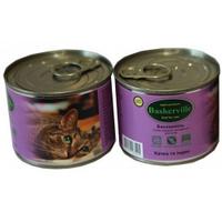 Влажный корм для котов Baskerville Утка и индюк 200 г