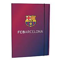 Папка на резинке Kite FC Barcelona, A4