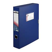 Папка-коробка Axent, А4, на липучке, синяя, 60 мм