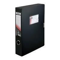 Папка-коробка Axent, А4, на липучке, черная, 60 мм