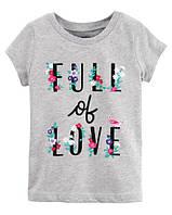 Футболка Carters для девочки 4-8 лет Full Of Love